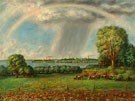 Rainbow and View of Madison Wisconsin 1937 - John Steuart Curry