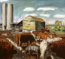 The Curry Farm Dunavant Kansas c1930 - John Steuart Curry