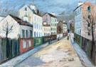 A Street In A Suburb of Paris 1912 - Maurice Utrillo