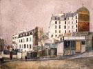 Paris Rue Ravignan 1913 - Maurice Utrillo