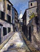 Rue Saint Rustique 1910 - Maurice Utrillo
