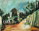 Rue Saint Vincent And The Lapin Agile 1917 - Maurice Utrillo