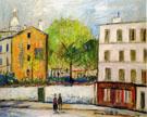 Street In Montmartre - Maurice Utrillo
