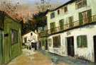 The Maison Des Italiens In Montmartre 1917 - Maurice Utrillo