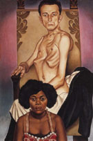 Haustein Christian Schad Chested Man And Rasha The Black Dove 1929 - Christian Schad