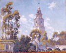 Balboa Park California Tower From Alcazar Garden 1923 - Alson Skinner Clark