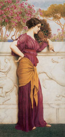 The Peacock Fan 1912 - John William Godward