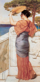 On The Balcony 1911 - John William Godward