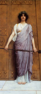 Priestess of Bacchus 1989 - John William Godward