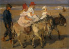 Donkey Riding on The Beach - Isaac Israels