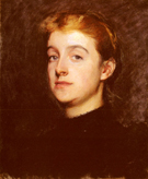 Portrait Sketch of Eleanor Hardy Bunker - Dennis Miller Bunker