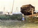 The Fisher Girl Nantucket 1881 - Dennis Miller Bunker