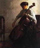 The Cellist 1908 - Joseph de Camp