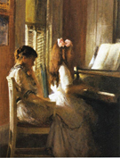 The Music Lession 1904 - Joseph de Camp
