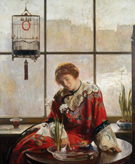 The Red Kimono c1919 - Joseph de Camp