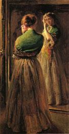 Girl With A Green Shawl c1900 - Joseph de Camp