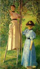 The Pear Orchard c1895 - Joseph de Camp