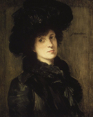 Girl In Black 1910 - Julian Alden Weir