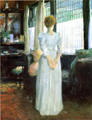 In The Livingroom 1890 - Julian Alden Weir