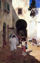 Street Scene Tangiers 1887 - Willard Leroy Metcalfe