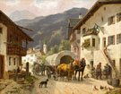 Rest at Midday in an Alpine Village - Desire Thomassin