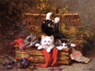 Kittens At Play End - Leon Charles Huber
