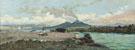 Relaxing on The Shore Vesuvius Beyond - Gaetano Esposito