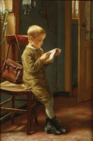 Child Reading - Edgard Farasyn