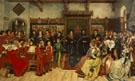 The Composer Benoit de Hertogen Directing The Local Musicians and Chorus 1514 - Henri Houben
