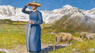 Midday In The Alps 1891 - Giovanni Segantini