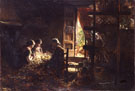 The Gathering of Silkworm Cocoons 1882 - Giovanni Segantini