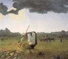 The Hay Harvest - Giovanni Segantini