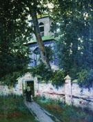 Churchyard in 1905 - Konstantin Yakovlevich Kryzhitsky