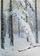 Forest at A Winter - Konstantin Yakovlevich Kryzhitsky