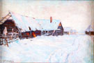 Russian Village In Winter - Konstantin Yakovlevich Kryzhitsky