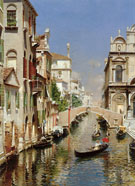 A Venetian Canal with The Scuola Grande Di San Marco And Campo San Giovanni E Paolo Venice - Rubens Santoro