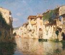 Canale Dell Acqua Morta c1890 - Rubens Santoro