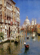 The Grand Canal Venice A - Rubens Santoro