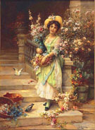 The Flower Seller - Hans Zatka