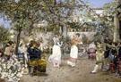 A Fiesta On A Sevillan Terrace - Jose Gallego Y Arnosa