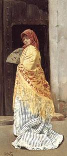 The Yellow Shawl 1881 - Jose Gallego Y Arnosa