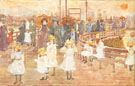 South Boston Pier c1895 - Maurice Brazil Prendergast