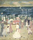 Sunday on The Beach c1894 - Maurice Brazil Prendergast