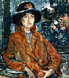 Woman In Brown Coat c1910 - Maurice Brazil Prendergast