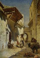 A Street Scene 1888 - Rudolph Gustav Miller