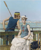 At The Regatta 1889 - Vittori Matteo Corcos