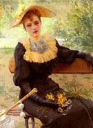 In The Garden 1892 - Vittori Matteo Corcos