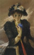 Signora Con Ombrellino c1884 - Vittori Matteo Corcos