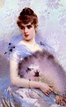 The Feathered Fan 1884 - Vittori Matteo Corcos