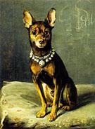 A Dog on A Cushion - Charles Van Den Eycken